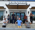 Patagonia store front with staff